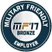 Military Friendly® Employer 2017 Bronze Award Seal