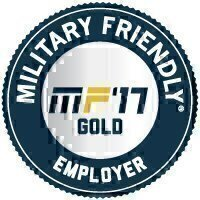 Military Friendly® Employer 2017 Gold Award Seal