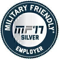 Military Friendly® Employer 2017 Silver Award Seal
