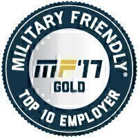 Military Friendly® Employer 2017 Top 10 Award Seal