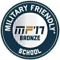 Military Friendly® School 2017 Bronze Award Seal