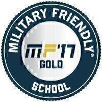 Military Friendly® School 2017 Gold Award Seal