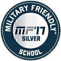 Military Friendly® School 2017 Silver Award Seal