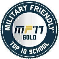 Military Friendly® School 2017 Top 10 Award Seal