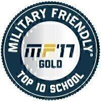 Military Friendly® School 2017 Top 10 Award Seal