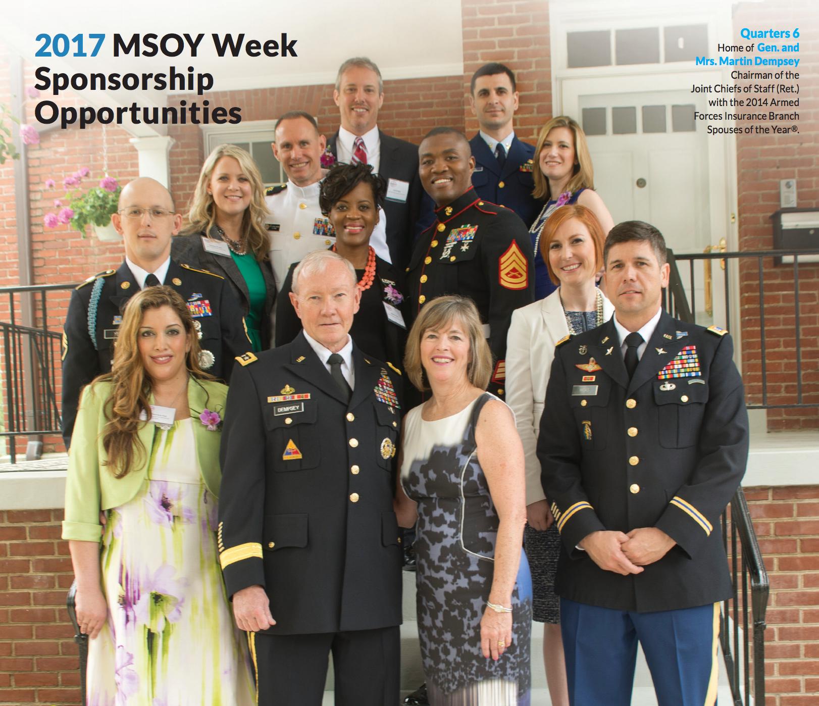 2017 Military Spouse Week - MSOY Week Sponsorship Opportunities